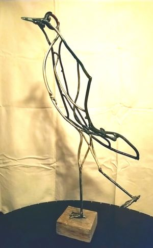 sculpture manchot